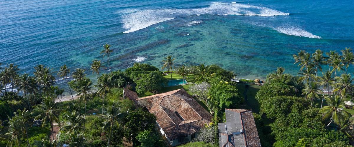Vacation Rental An elevated beachfront villa overlooking a surf break