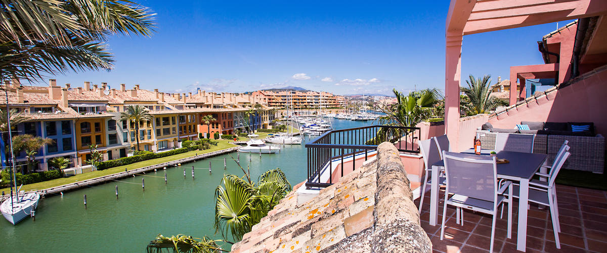Vacation Rental Sotogrande Marina 2 Br Penthouse W. Large Terrace