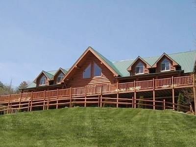 Spectacular 9 Bedroom Mansion With Pool, Sevierville