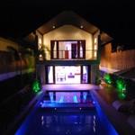 Villa Chok exterior at night