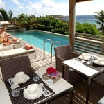 Rental Luxury Suite including a terrace and have an exceptional view of the lagoon
