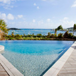 Rental Villa Lobster 4 bedrooms has an amazing view in first ligne on Pinel Island