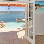 Rental Villa Tanyria 4 bedrooms, holiday  villa overlooking Saint-Martin lagoon