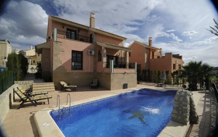 Villa With Private Pool And Views Over The Golf Course, Algorfa