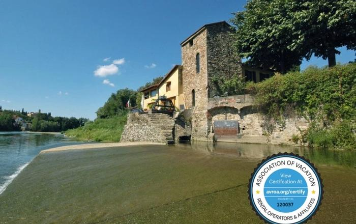 Ancient 13th Century Mill On The Arno River. Surrounded By Nature, Near Florence, Fiesole