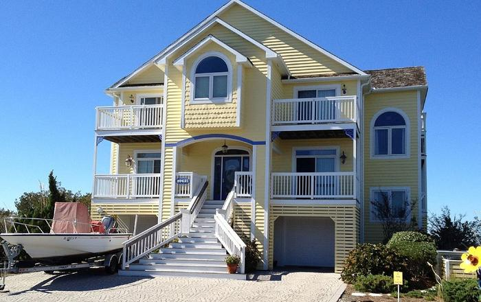 Luxurious Bayfront Home On Private Peninsula, Gated, Beach & Pool, Water Views, Bethany Beach