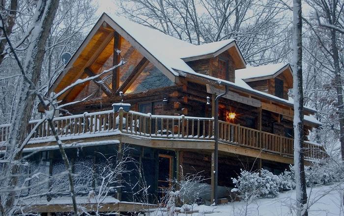 All Wood Log Cabin,