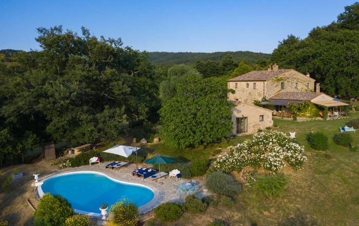 Villa La Rocca - 10 Guests, San Casciano Dei Bagni, Tuscany
