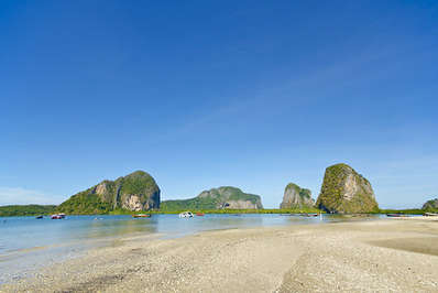 The virtually deserted Pak Meng beach in Trang province