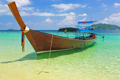 A water taxi on the Andaman Sea Thailand