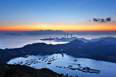 View from Lamma Island with the power station as backdrop