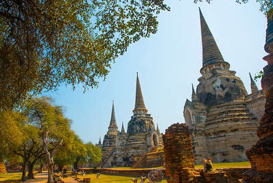 Wat Phra Si Sanphet is one of the more spectacular temples in Ayutthaya
