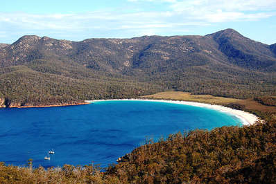 Wineglass Bay has been voted as one of the world's top ten beaches