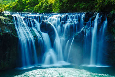 Taiwan has many scenic waterfalls like Shifen waterfall