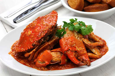 The succulent Singapore chilli crab is famous for a reason
