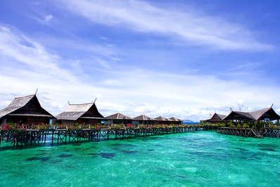 Kapalai island near Sipadan offers exotic over the sea accommodation