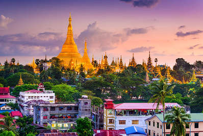 The Shwedagon Pagoda in Yangon is one of the world's most famous pagodas