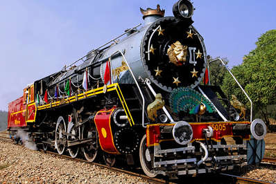 An old steam locomotive in India