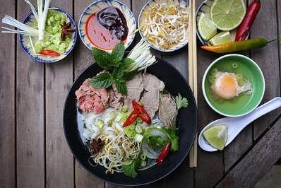 Pho Vietnamese rice noodles