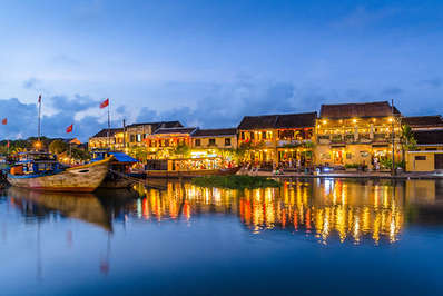 The quaint town of Hoi An at sunset
