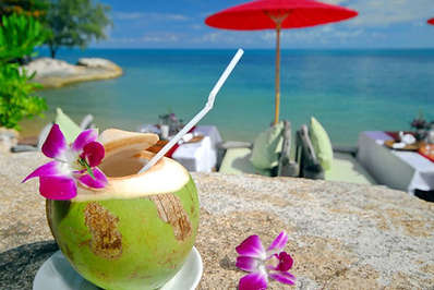 A simple young coconut is perhaps the best way to enjoy the refreshing taste
