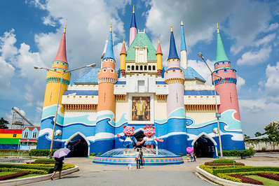 The entrance to Bangkok's Siam Park City