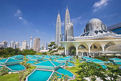 KLCC with the Petronas Towers and Menara Tower in background