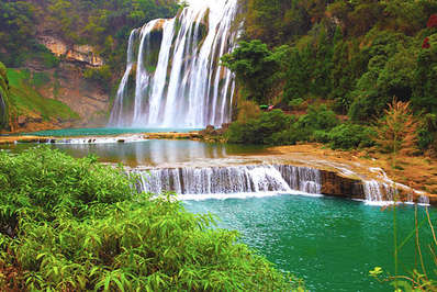 The impressive Huangguoshu Fall is one of Guizhou's biggest tourist spots
