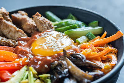 Bibimbap is probably one of the most well known and beloved Korean dishes