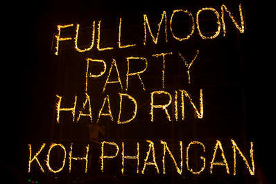 Full Moon Party Sign