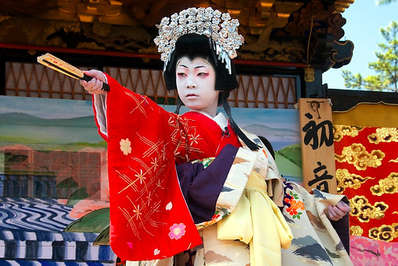 Japanese Kabuki performance is all about the costumes and makeup