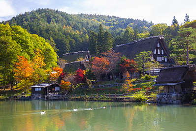 Autumn at the Hida Folk Village Takayama Japan
