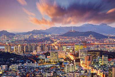 South Korea's capital Seoul at dusk