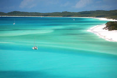 The beautiful waters of the Whitsunday's are a boater's paradise