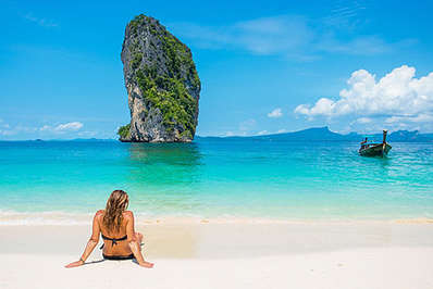 After a hectic day at one the Waterparks you can always relax on Thailand's amazing beaches