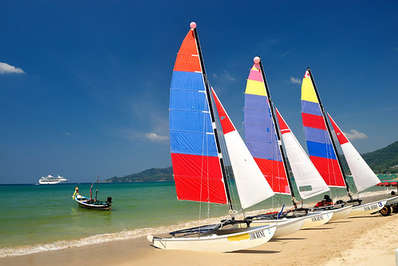 Catamarans for rent on Patong Beach Phuket