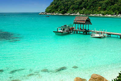 Idyllic bay on the Perhentian Islands, Malaysia