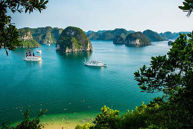 The UNESCO World Heritage Site of Ha Long Bay attracts many tourists