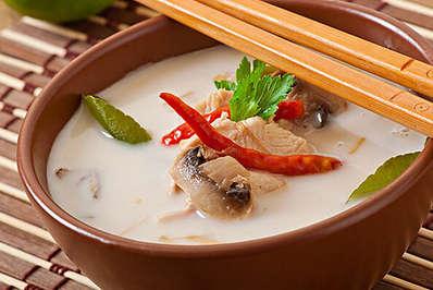 Tom Kha Gai is a popular Thai dish