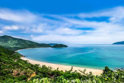 Da Nang Bay Vietnam from the Hai Van Pass