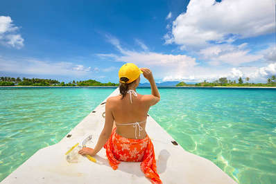 Crystal clear waters like off the Gili Islands are so inviting