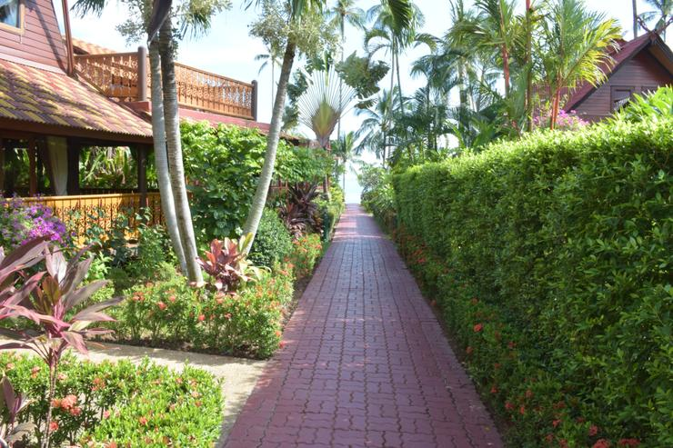 Banyan Villa 1 - Footpath to the shared pool and beach