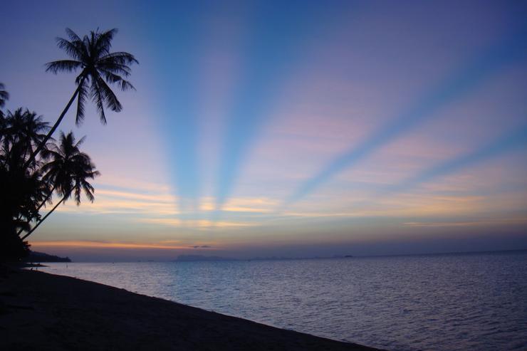Bang Por Beach at Sunset