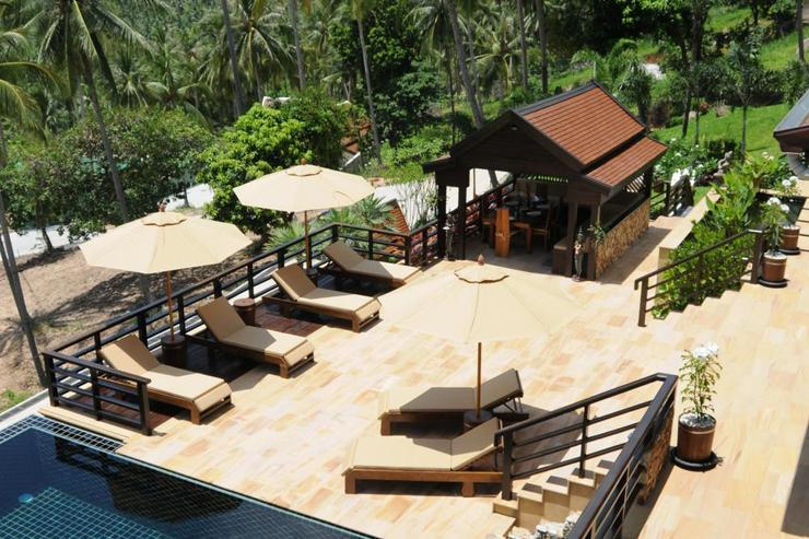 Golden Palm Villa - Terrace Aerial View