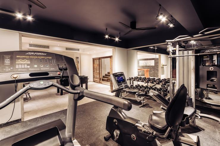 Private gym with range of Life Fitness equipment