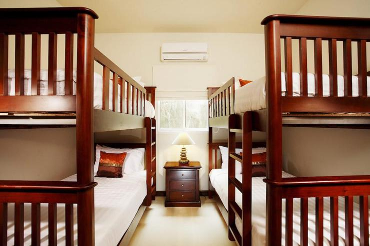 Amber villa (V01) - Bedroom 6, with two sets of bunk beds, great for up to 4 children wishing to share a bedroom