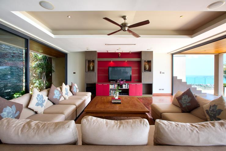 Ample lounge seating for all guests with LED TV and satellite channels