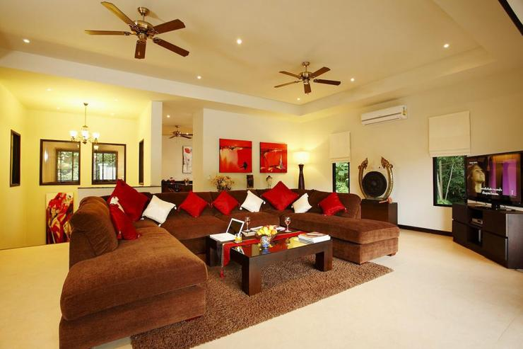Inviting large sofa ideal for relaxing indoors