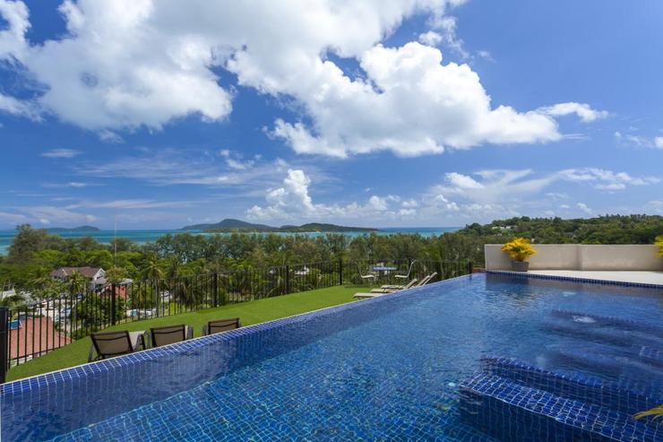Diamond View (V05) - Infinity-edge swimming pool with integral jacuzzi, overlooking the andaman sea