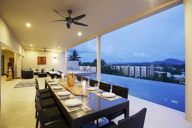 Diamond View (V05) - Adjacent to the swimming pool, the dining table comfortably seats 16 guests